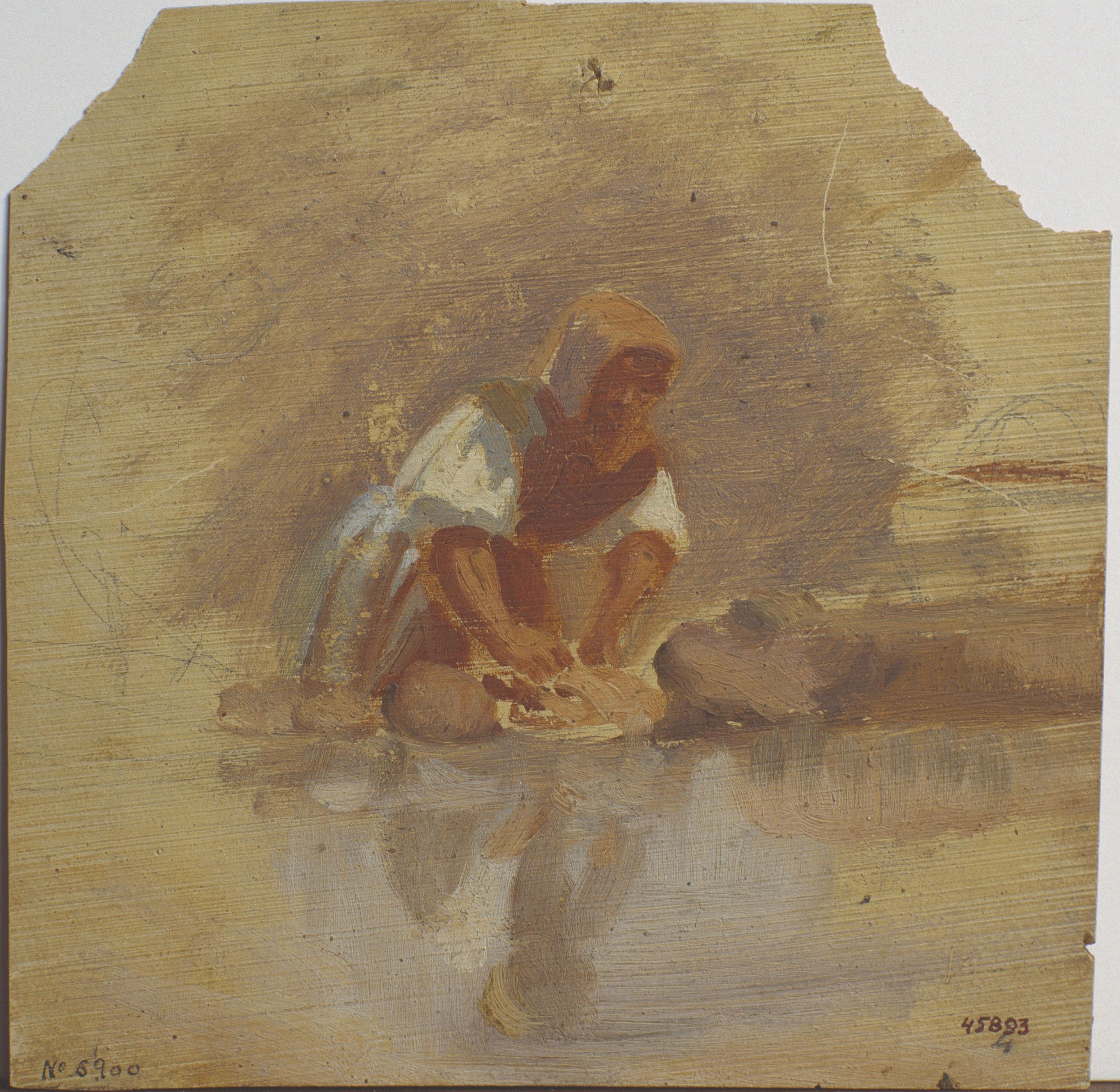 Marià Fortuny - Washerwoman - Circa 1858-1859