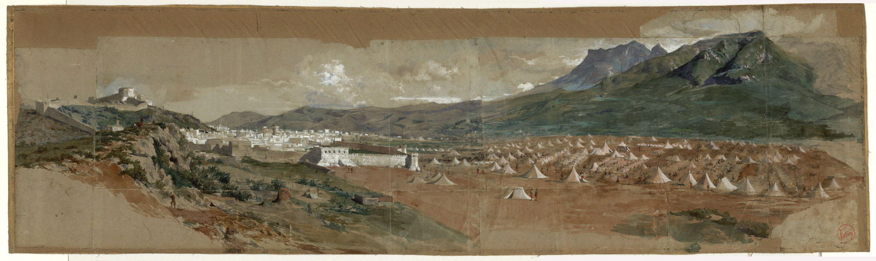 Marià Fortuny - View of Tetouan - 1860