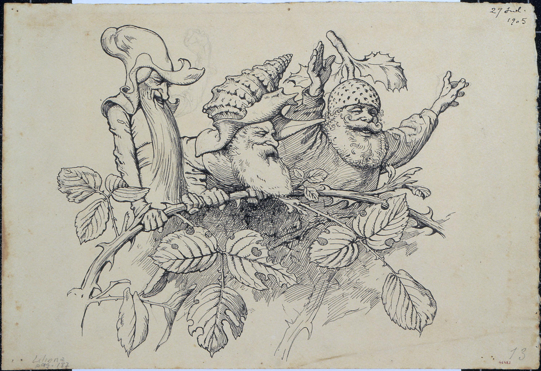 Apel·les Mestres - L'host. Il·lustració per al poema «Liliana» d'Apel·les Mestres - 1905