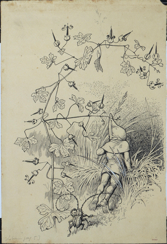 Apel·les Mestres - Retorn de Flok. Il·lustració per al poema «Liliana» d'Apel·les Mestres - Cap a 1907