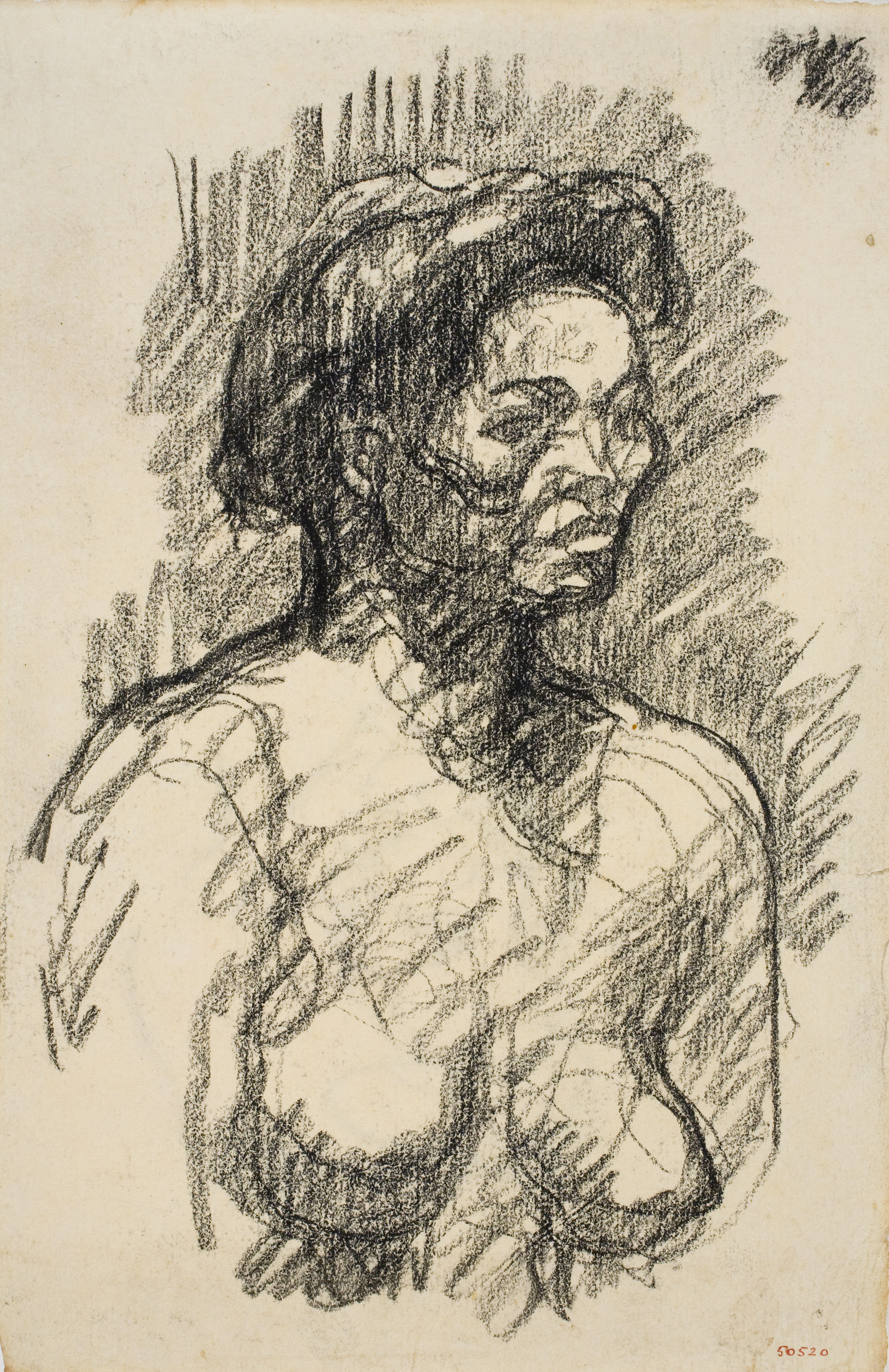 Isidre Nonell - Nude female bust - Circa 1908