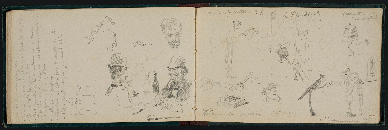 Apel·les Mestres - Apunts de figures - Cap a 1878
