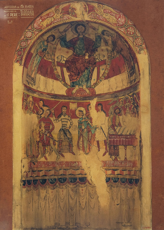Joan Vallhonrat - Reproducció de les pintures de l'absis de Sant Tomàs Becket de Santa Maria de Terrassa - 1918