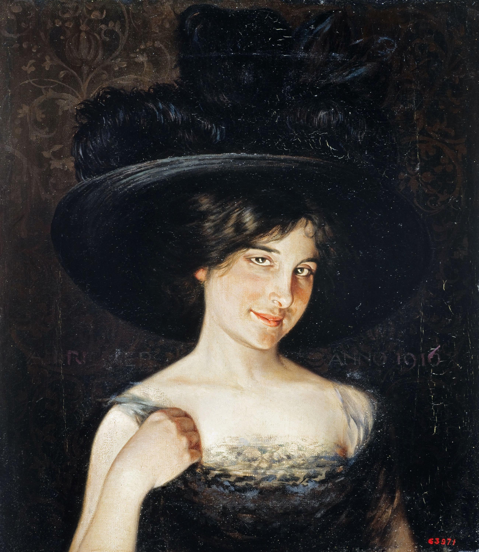 Alexandre de Riquer - Retrat d'Emília de Riquer i Palau - 1916