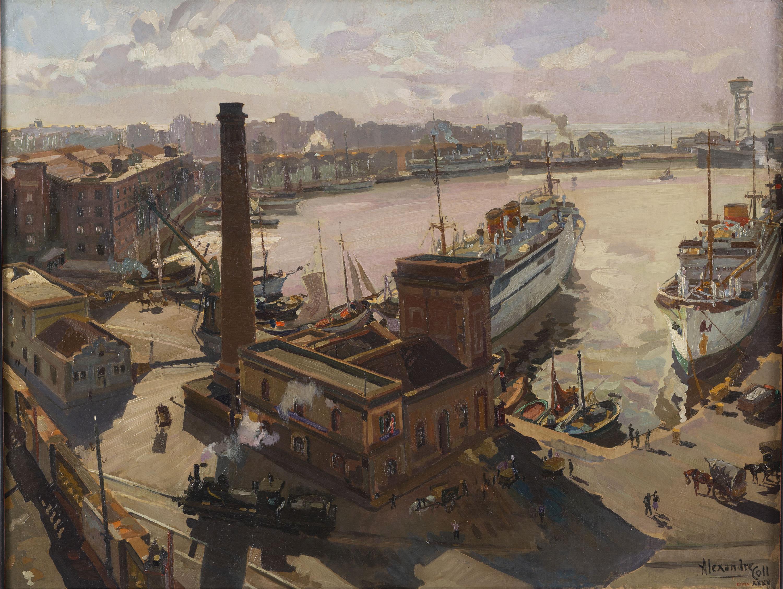 Alexandre Coll - La dàrsena - 1935