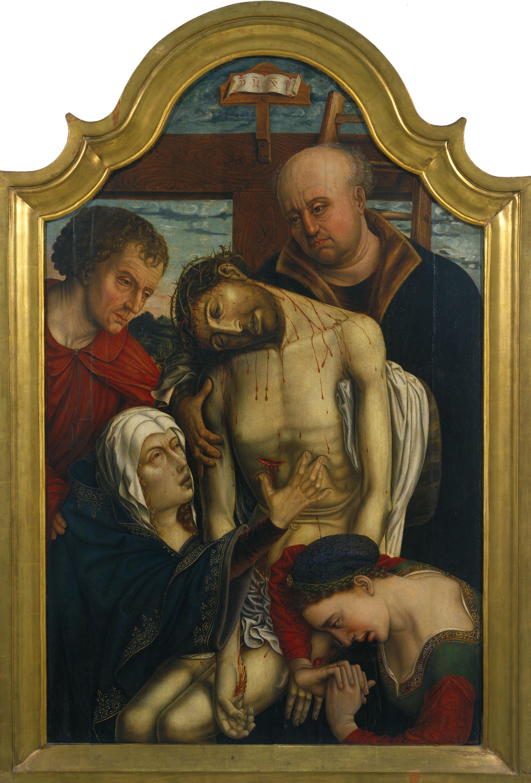 Anònim. Escola hispanoflamenca - Davallament de la Creu - 1500-1510