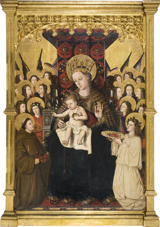 Mestre de la Porciúncula - Mare de Déu de la Porciúncula - Cap a 1450