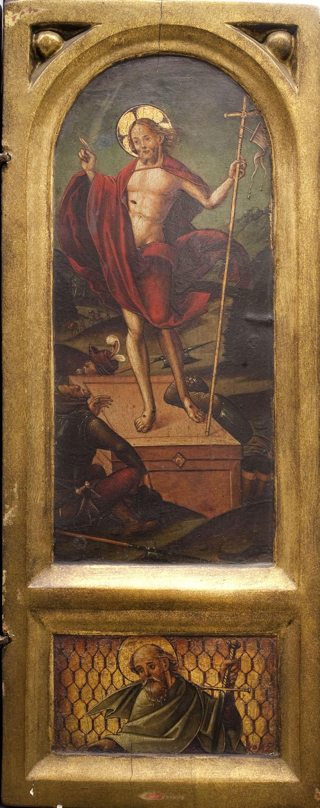 Anònim. Aragó - Resurrecció i sant Pau - Entre 1510-1550