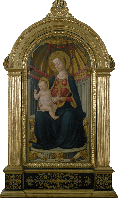 Neri di Bicci - Mare de Déu amb el Nen Jesús en el tron - Segle XV