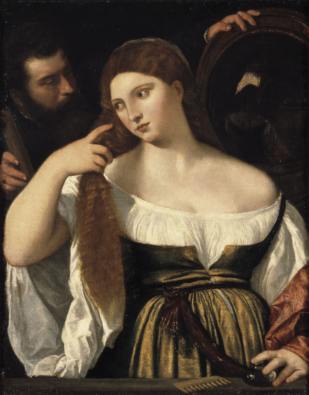 Tiziano Vecellio - Noia davant el mirall - Posterior a 1515