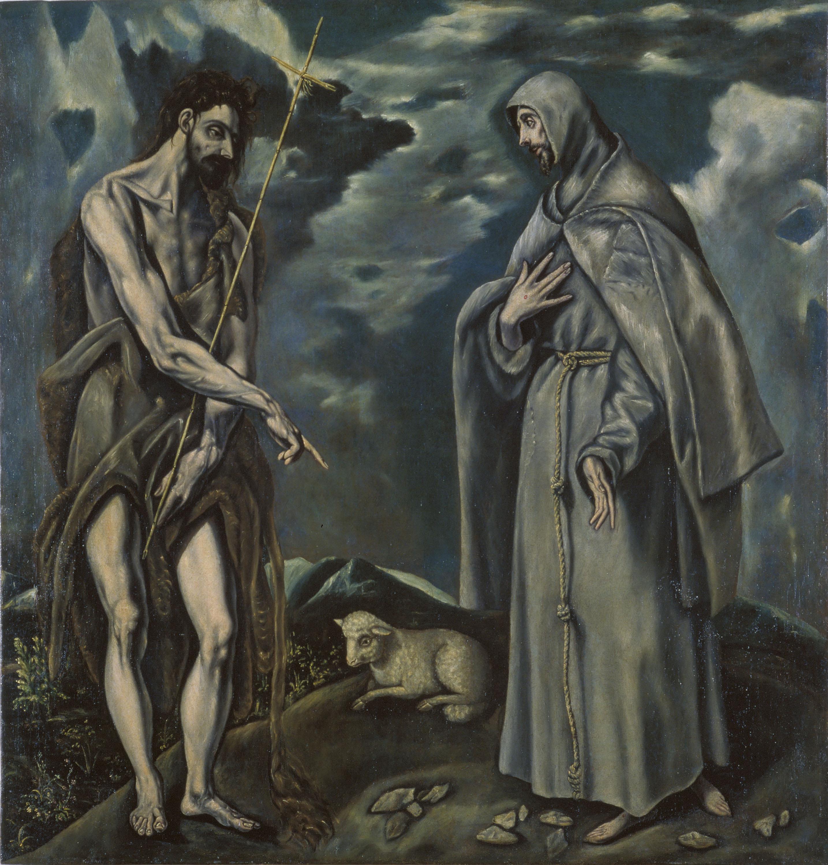 Doménikos Theotokópoulos (El Greco) - Sant Joan Baptista i sant Francesc d'Assís - Finals del segle XVI – inicis del segle XVII