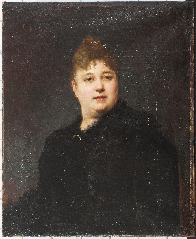 Francesc Masriera - Retrat femení - 1890