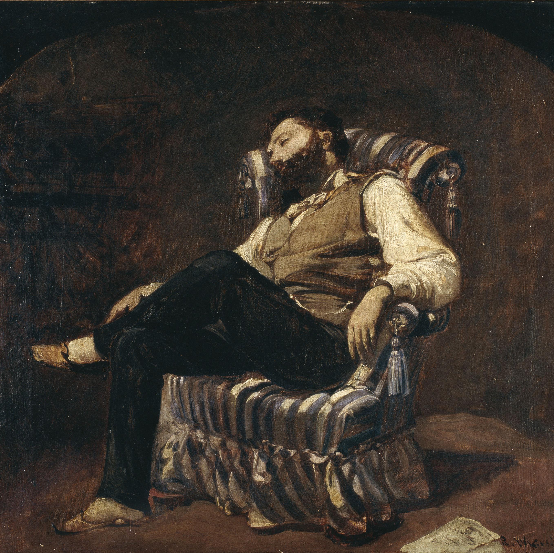 Ramon Martí i Alsina - La migdiada - Barcelona, cap a 1884