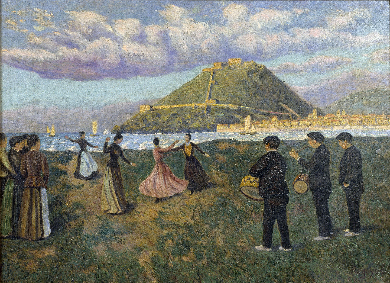 Darío de Regoyos - Basque Celebration (dance at El Antiguo, San Sebastián) - 1888