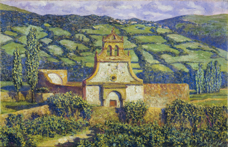 Darío de Regoyos - The village of Quevedo. Valle de Toranzo - 1910