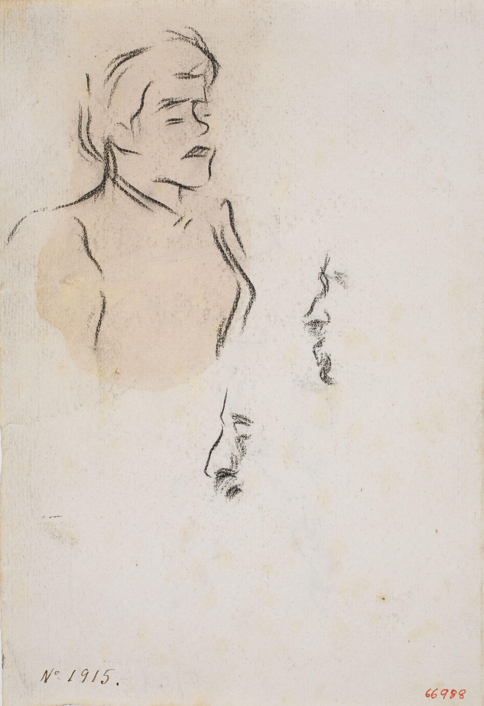 Isidre Nonell - Figure sketch - Circa 1894