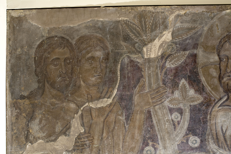 Mestre de la sala capitular de Sixena - Déu mostra el Paradís a Adam i Eva, de la sala capitular de Sixena - Entre 1196-1200 [1]