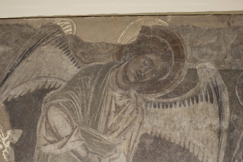 Mestre de la sala capitular de Sixena - Un àngel ensenya Adam a treballar la terra, de la sala capitular de Sixena - Entre 1196-1208 [2]