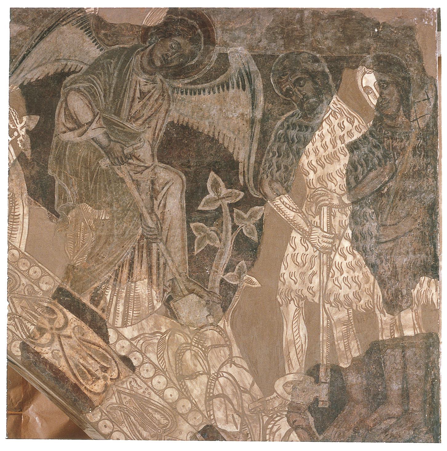 Mestre de la sala capitular de Sixena - Un àngel ensenya Adam a treballar la terra, de la sala capitular de Sixena - Entre 1196-1208 [3]