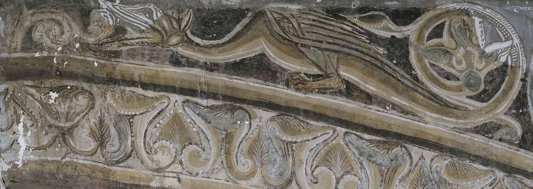 Mestre de la sala capitular de Sixena - Un àngel ensenya Adam a treballar la terra, de la sala capitular de Sixena - Entre 1196-1208 [4]