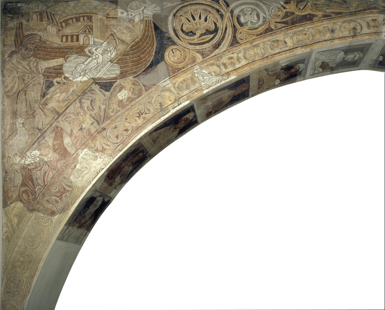 Mestre de la sala capitular de Sixena - Noè fa entrar els animals a l'arca, de la sala capitular de Sixena - Entre 1196-1208