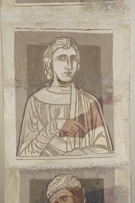 Mestre de la sala capitular de Sixena - De Nangai a Resà de la genealogia de Crist segons Lluc, de la sala capitular de Sixena - Entre 1196-1208 [1]