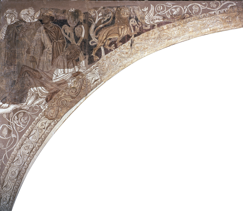 Mestre de la sala capitular de Sixena - Embriaguesa de Noè, de la sala capitular de Sixena - Entre 1196-1208