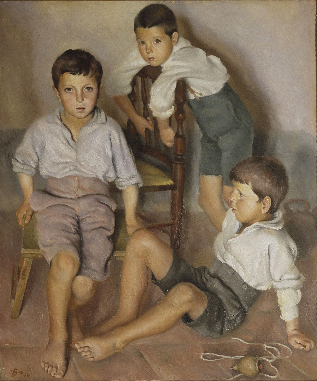 Josep de Togores - Tres nens - Vilalleons, 1933