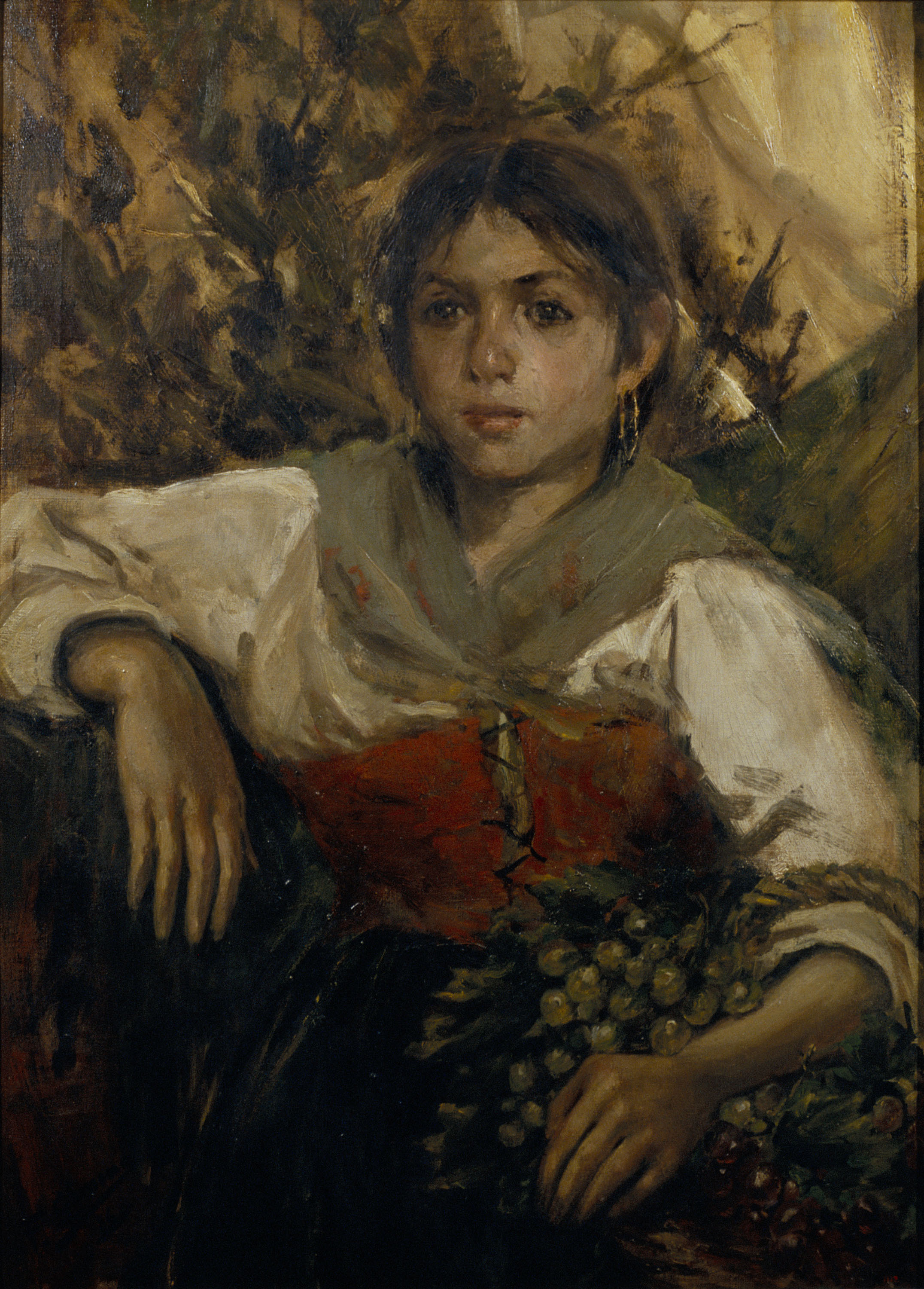 Francesc Gimeno - Peasant Girl - Madrid, 1886