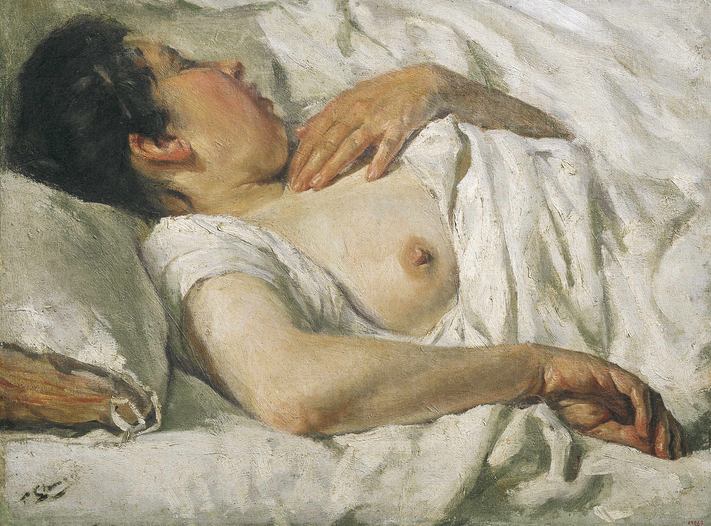 Francesc Gimeno - Dona dormint - Barcelona, cap a 1899