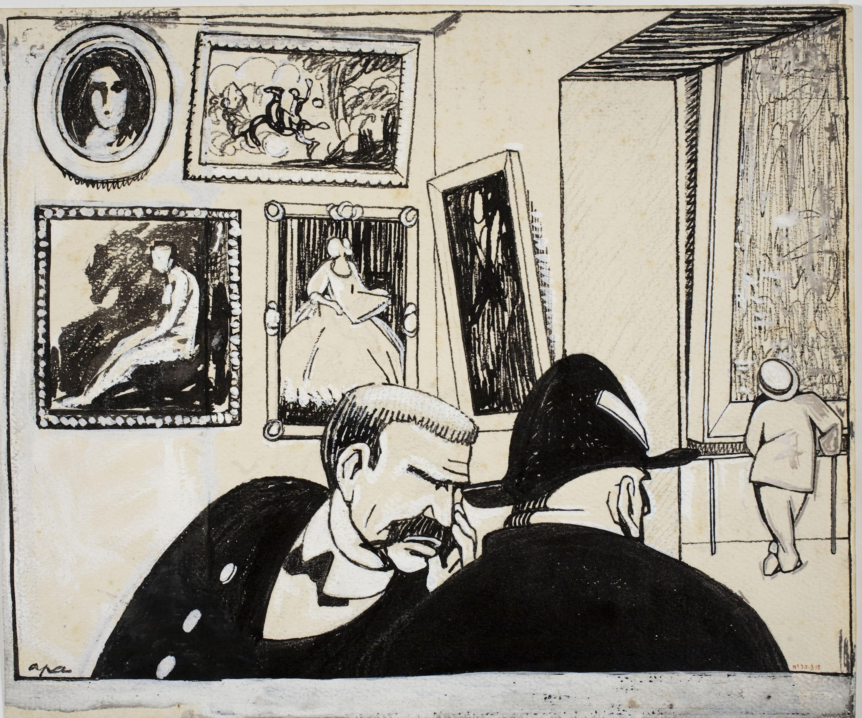 Feliu Elias - Al museu - Cap a 1910