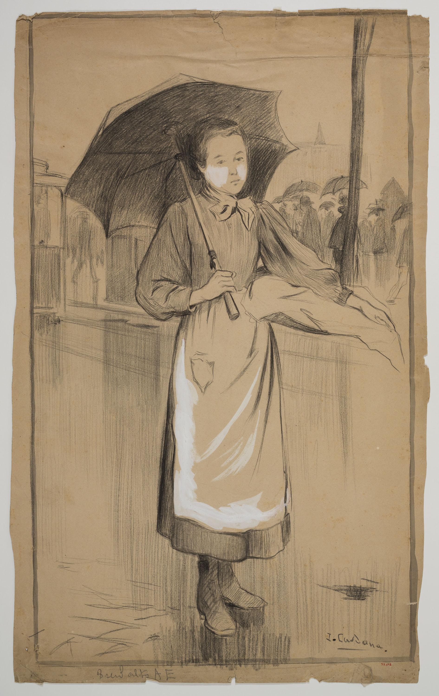 Joan Cardona - Girl with an umbrella - Circa 1902