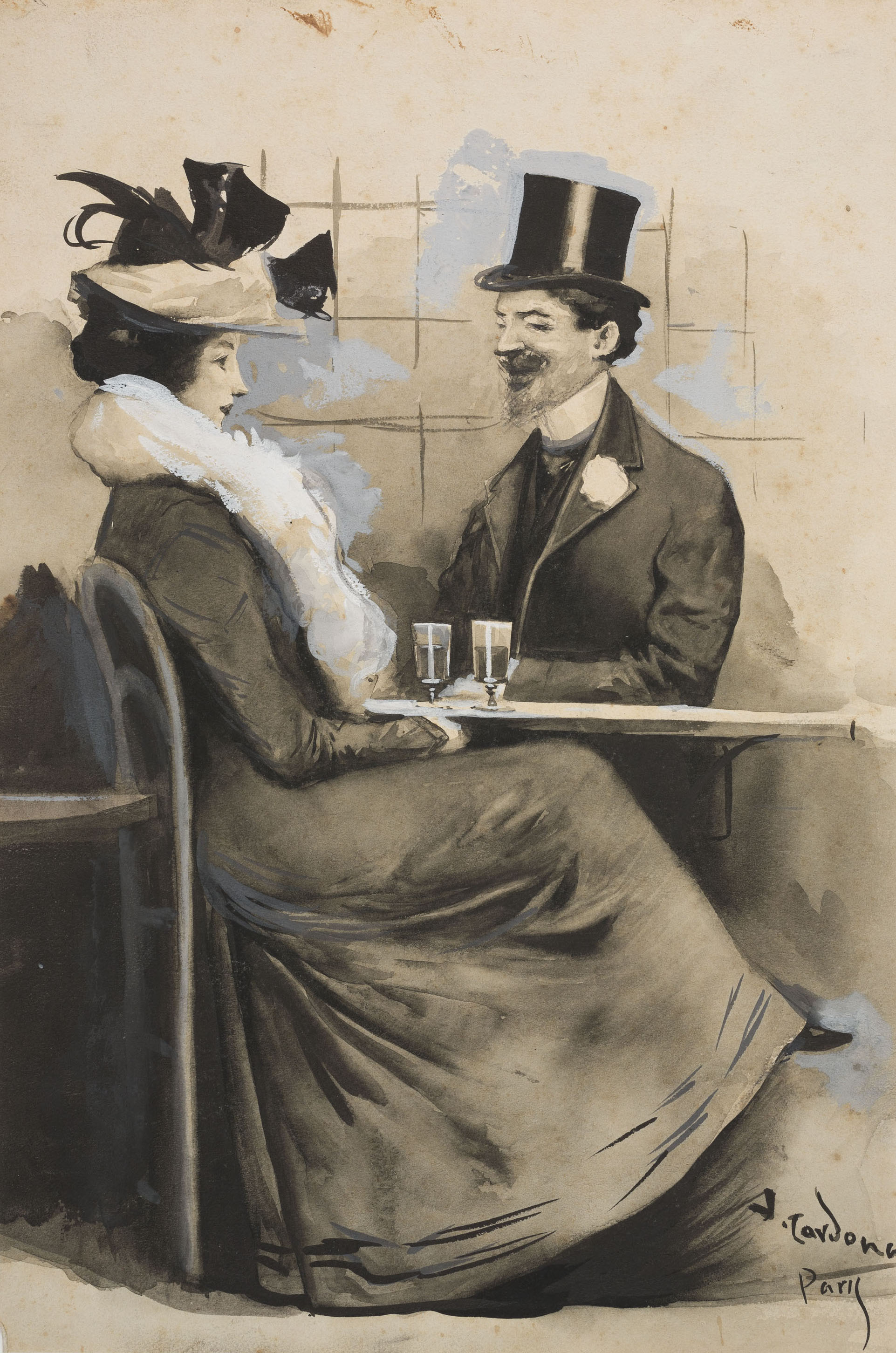 Joan Cardona - «Prenent l'aperitiu» - Cap a 1903