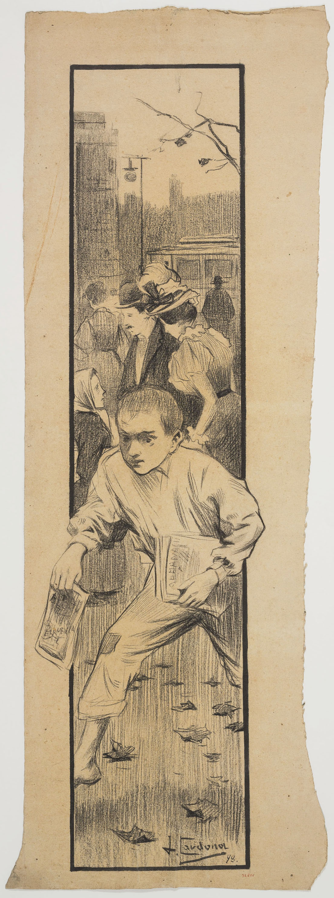 Joan Cardona - «La nota del dia» (anvers) / Lletres de Manuel (revers) - 1898