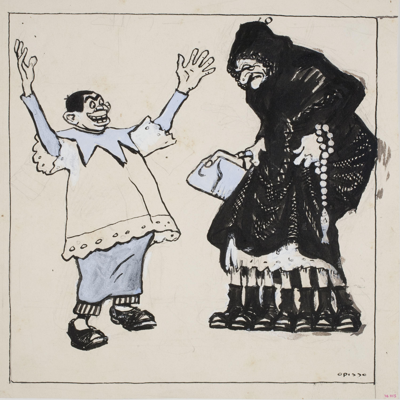 Ricard Opisso - Satire of Lent - Circa 1900