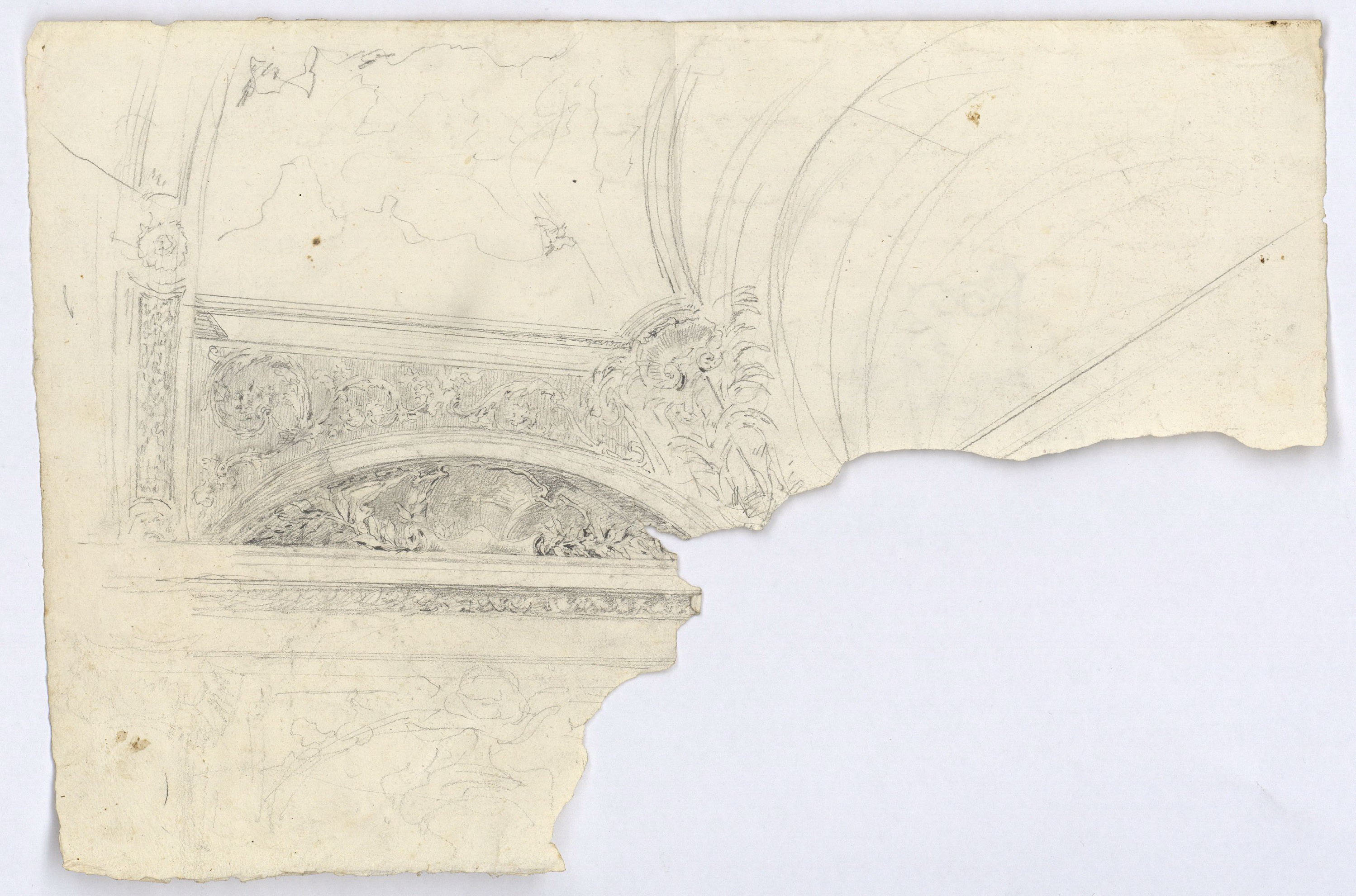Sketch of ceiling mouldings and cornices | Museu Nacional d