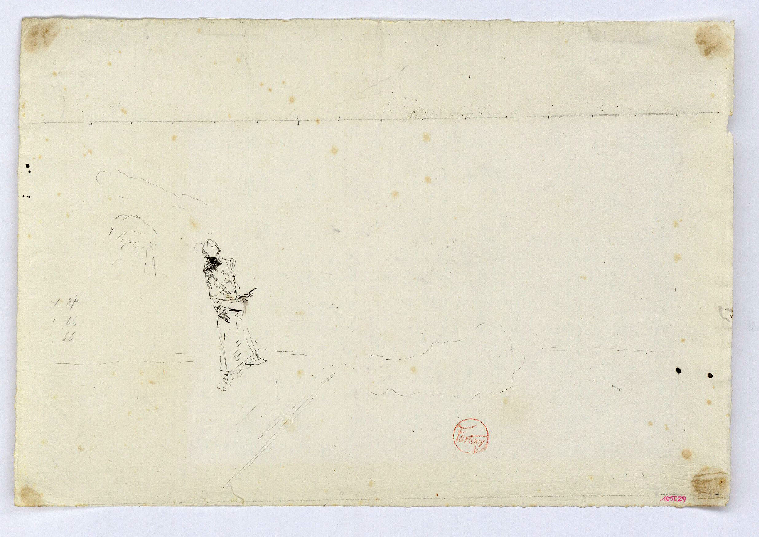 Marià Fortuny - Study for the picture 'The Slaughterhouse at Portici' - Circa 1874
