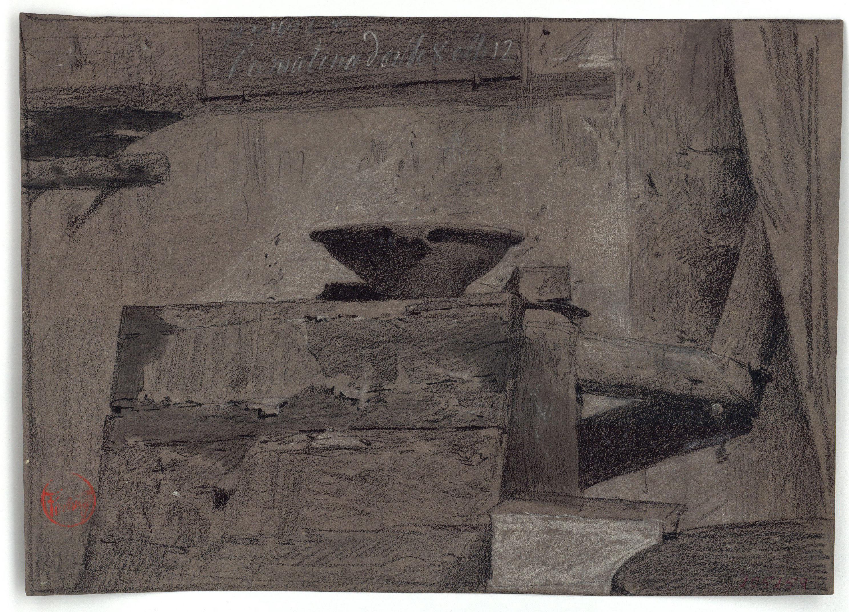 Marià Fortuny - Interior d'un taller romà - Cap a 1860-1867