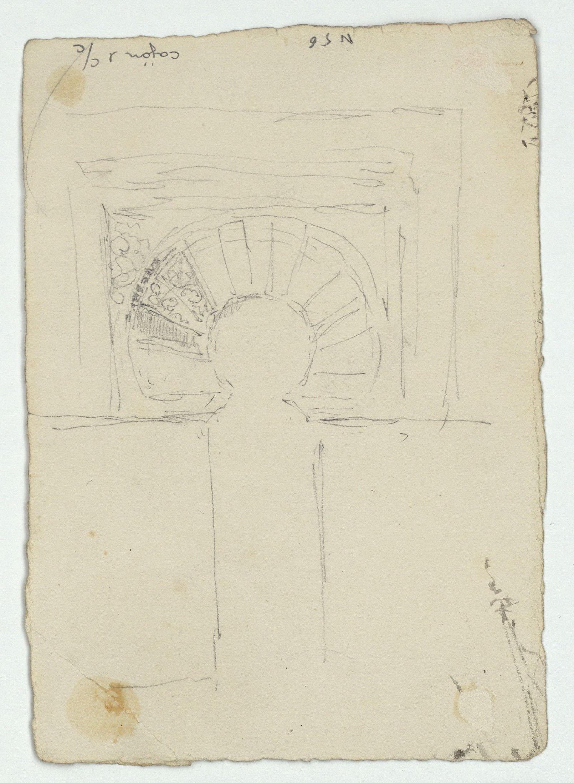 Marià Fortuny - Arcuacions d'estil musulmà (anvers) / Entrada del mihrab de la mesquita de Còrdova (revers) - Cap a 1870-1872 [1]