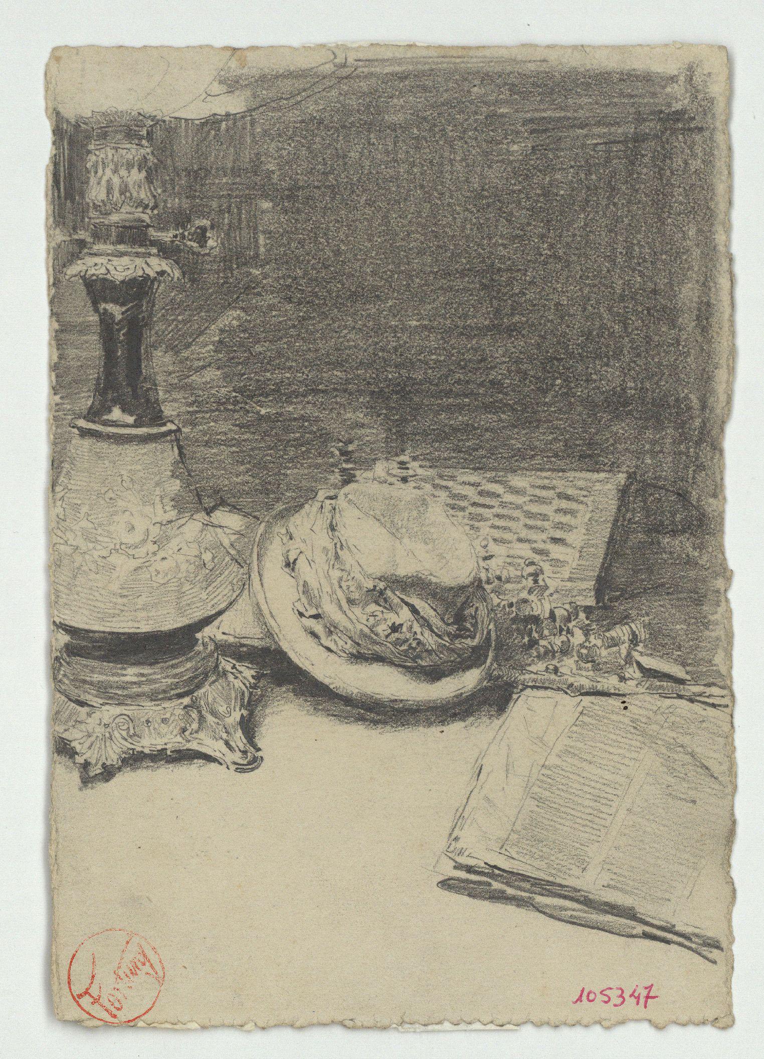 Marià Fortuny - Still life with hat - Circa 1863-1866