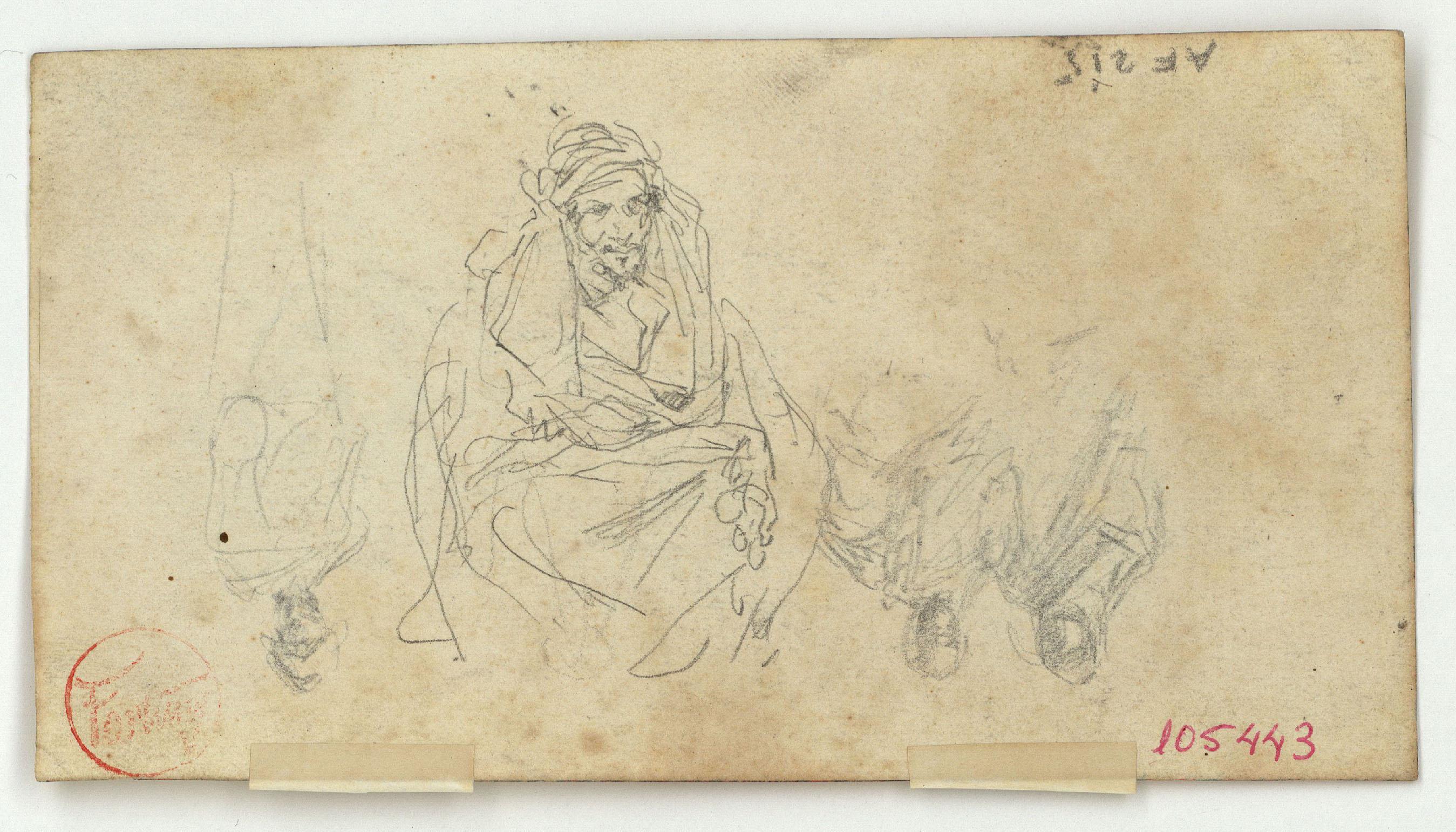 Marià Fortuny - Marroquins (anvers) / Caps de marroquins i potes de cavall (revers) - Cap a 1860-1862