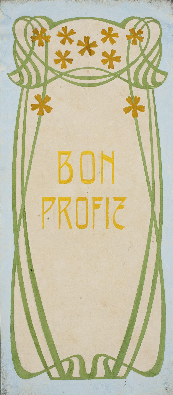 Gaspar Homar - Porta amb la inscripció «Bon Profit» - Cap a 1900-1910