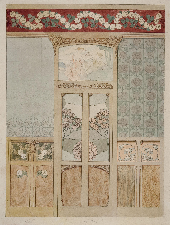 Gaspar Homar - Projecte per al saló de la casa Navàs de Reus - Cap a 1905