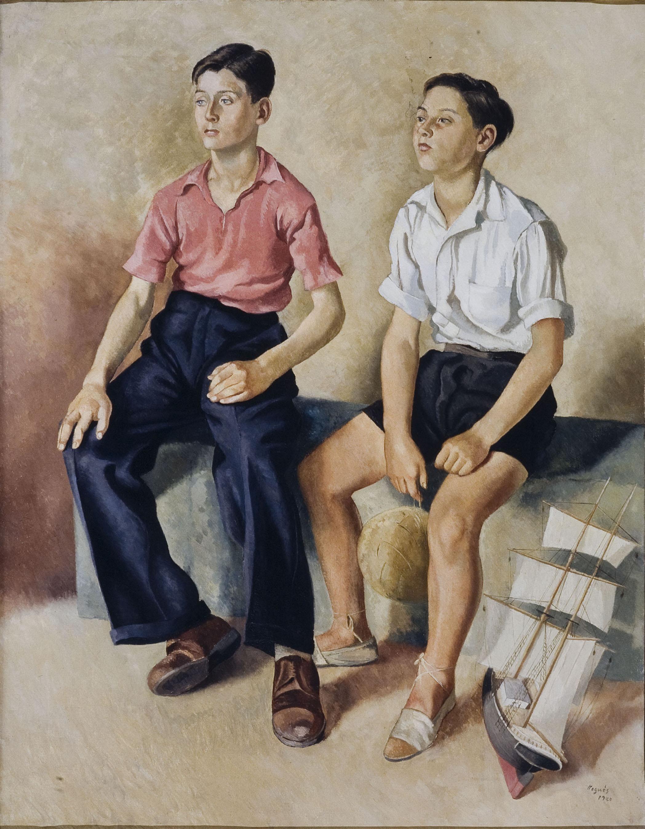 Xavier Nogués - Dos nois i un vaixell - 1940