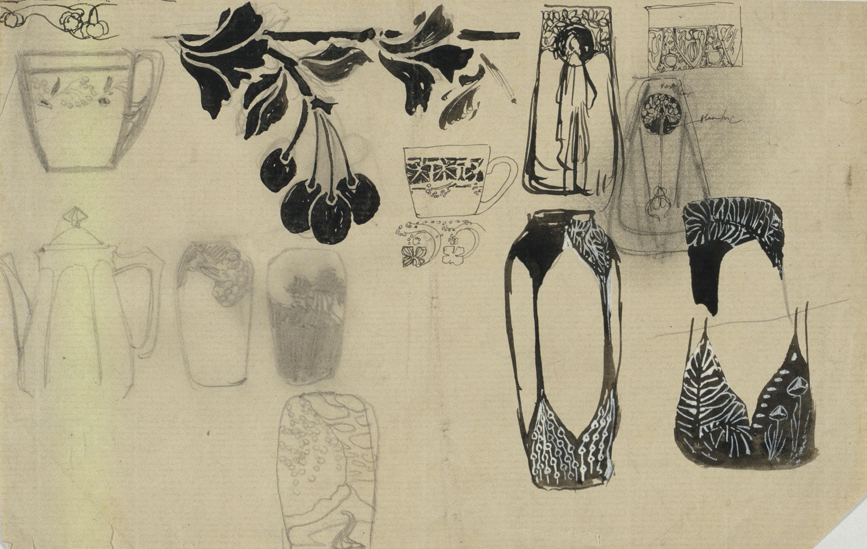 Antoni Serra - Ornamentació per a porcellanes - Cap a 1904-1908