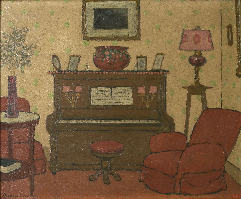 Pere Torné Esquius - Interior amb piano - Cap a 1909-1914