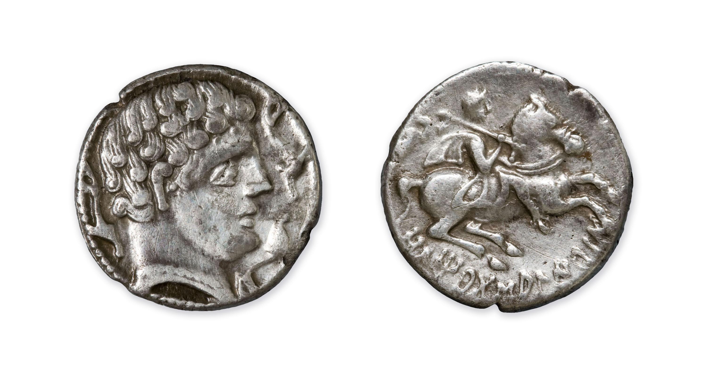 Iltirta - Denari d'Iltirta - Segona meitat del segle II aC