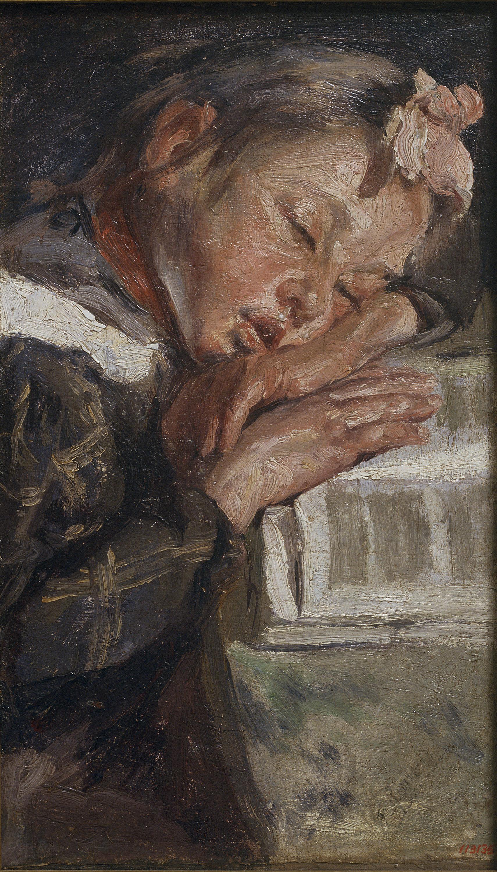 Francesc Gimeno - Girl Sleeping - Barcelona, 1895-1898