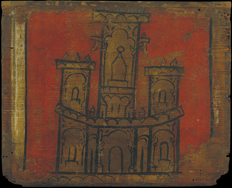 Anònim. Castella - Tauleta d'enteixinat amb castell - Primera meitat del segle XIV