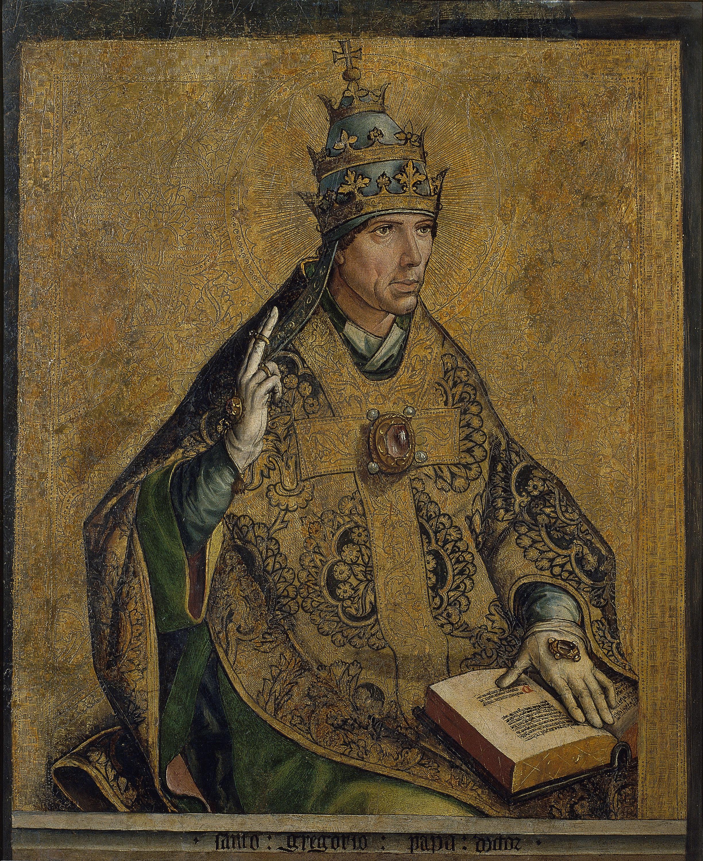 Pedro Berruguete - Sant Gregori Papa - Cap a 1495
